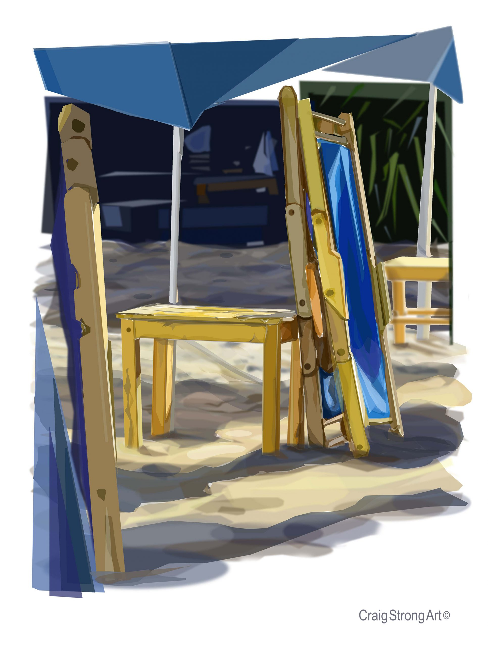 Sunday Morning, Blue Chairs