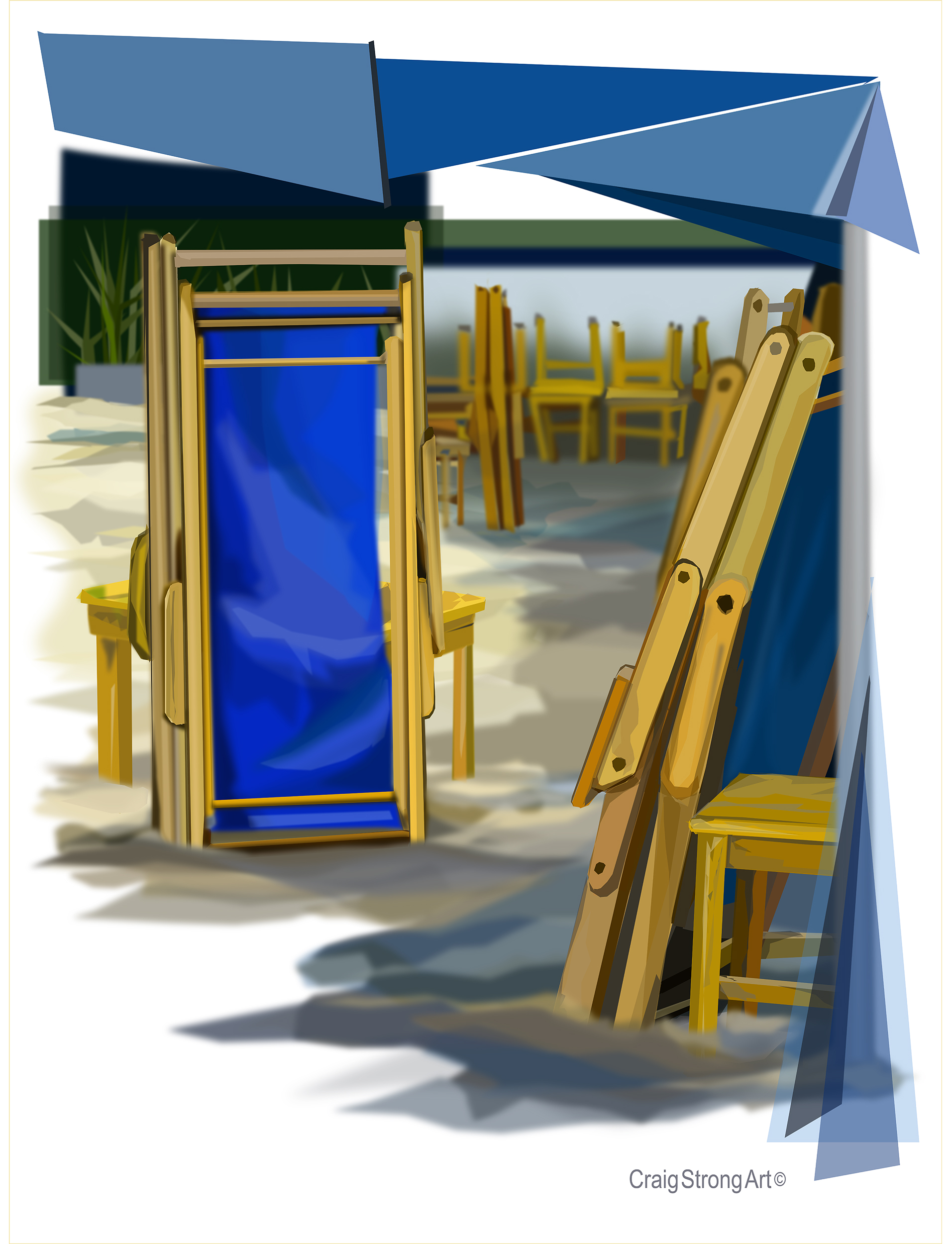 Blue Chairs, Another Sunday Morning